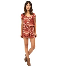 Show Me Your Mumu Rowdy Romper Happy Henna Women's Jumpsuit And Rompers One Piece Brown