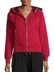 Burberry Hooded Zip Jacket Parade Red