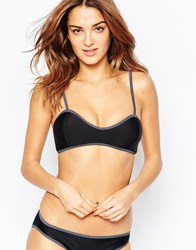 South Beach Mix And Match Cami Bralette Bikini Top Black