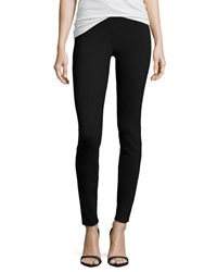 Max Studio Solid Ponte Leggings Black