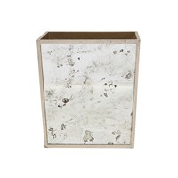 Pigeon And Poodle Atwater Rectangular Waste Basket Silver Leaf