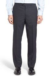 Men's John W. Nordstrom Flat Front Check Wool Trousers