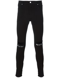 Rta Ripped Knee Skinny Jeans Black