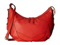 French Connection Fatima Hobo Lava Hobo Handbags Red