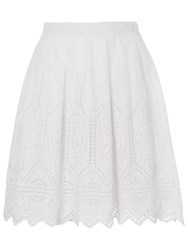 French Connection Josephine Flared Skirt Summer White