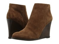 Vince Camuto Gemina Coco True Suede Women's Wedge Shoes Brown