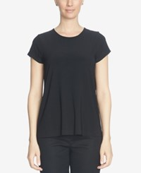 Cece Short Sleeve Pleated Back Blouse Rich Black
