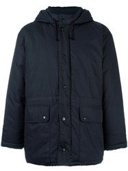 Our Legacy Hooded Padded Parka Coat Black