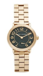 Marc Jacobs Riley Watch Gold Glossy Dark Green