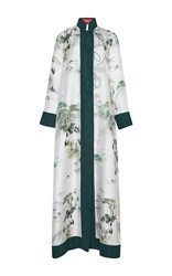 For Restless Sleepers Euribia Long Sleeve Maxi Dress Blue White Green