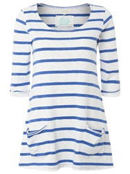 White Stuff Chesil Striped T Shirt Blue
