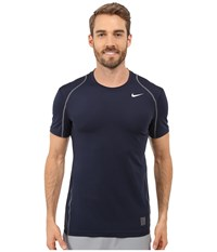 Nike Pro Cool Fitted S S Obsidian Dark Grey White Men's Short Sleeve Pullover Gray