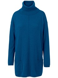 Fat Face Maplewell Longline Jumper Cobalt