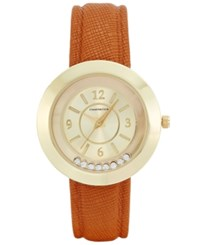 Charter Club Women's Brown Leather Strap Watch 33Mm Only At Macy's Gold