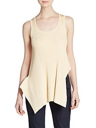 Stella Mccartney Asymmetrical Rib Knit Tank Pastel Yellow