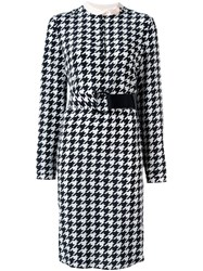 Salvatore Ferragamo Houndstooth Print Dress Multicolour