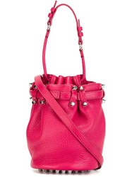 Alexander Wang 'Diego' Bucket Crossbody Bag Pink And Purple