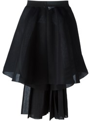 Y 3 Asymmetric Full Skirt Black