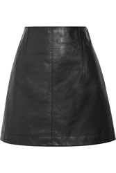 Chloe Leather Mini Skirt Black