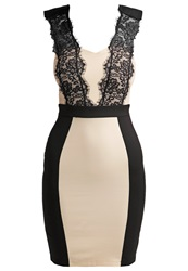 Paper Dolls Cocktail Dress Party Dress Beige Black