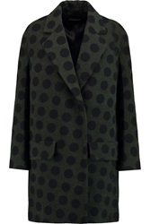 Sonia Rykiel Polka Dot Wool Coat Gray