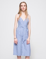 Finders Keepers Blow Your Mind Jumpsuit Blue Stripe