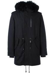 Mackage Hooded Parka Coat Blue