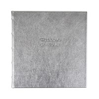 Graphic Image Leather Wedding Book Silver