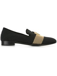 Giuseppe Zanotti Design 'Shark' Slippers Black