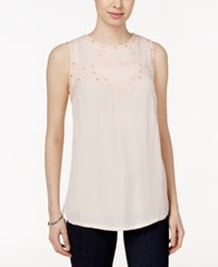 Styleandco. Style And Co. Sleeveless Scoop Neck Top Only At Macy's Crushed Petal