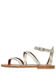 K Jacques St.Tropez 10Mm Epicure Metallic Leather Sandals
