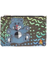 Vivienne Westwood Anglomania 'Manhole Teddy' Zipped Pouch Black