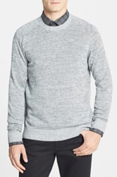 Calibrate 'Witkin' Cotton And Cashmere Crewneck Sweater Gray