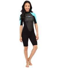O'neill Reactor Spring Suit Black Turquoise Black Women's Wetsuits One Piece