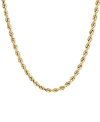 Macy's 14K Gold Necklace 24' Diamond Cut Seamless Rope