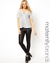 Mama.Licious Mamalicious Wet Look Legging Black