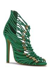 Red Kiss Electric Fire Stiletto Sandal Green