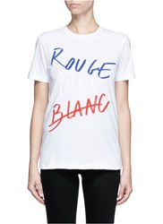 Etre Cecile 'Rouge Bleu Blanc' Slogan Print T Shirt Multi Colour