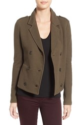 James Perse Women's Double Breasted Blazer Army Green