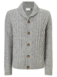 John Lewis Frosty Cable Cardigan Grey