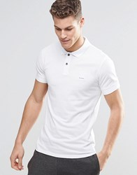 Boss Orange Polo Shirt With Logo In Slim Fit White White