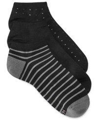 Hanes Women's Comfort Soft Crew Low Cut Socks 3 Pack Black Stripe