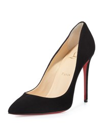 Christian Louboutin Pigalle Follies Suede Red Sole Pump Black