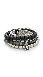 Samantha Wills Magnetic Rhythm Bracelet Set Black Silver