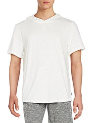Threads 4 Thought Moody Organic Cotton Short Sleeve Hoodie White