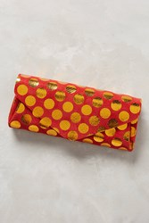 Anthropologie Polka Dotted Leather Wallet Coral