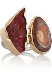 Melissa Joy Manning 14 Karat Gold And Sterling Silver Stalactite And Opal Ring Metallic