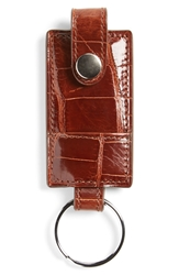 Boconi Alligator Key Fob Tan