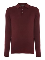 Chester Barrie Merino Polo Shirt Red
