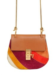 Chloe Small Drew Rainbow Patchwork Suede Bag